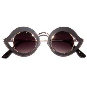 Retro Metal Eye Frame Sunglasses